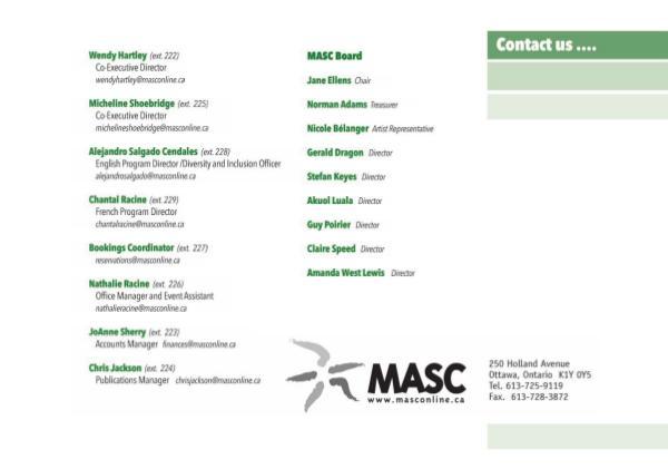 MASC Brochure MASC English Brochure 2019 - 2020