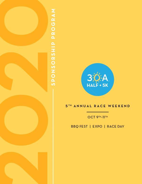 30A Half Marathon + 5K Sponsorship Sponsorship packages 2020_Full