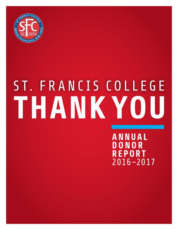 St. Francis College Donor Report Donor Report 2016-2017