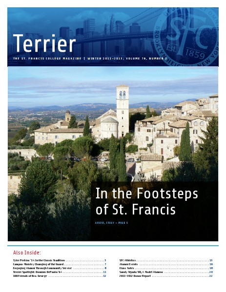 Terrier Volume 76, Number 2 - Winter 2012-2013