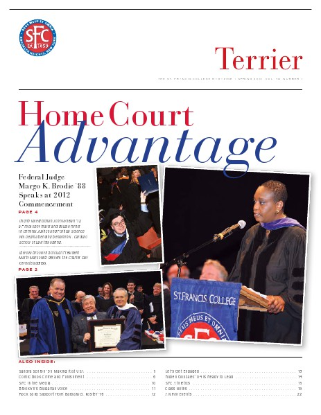 Terrier Volume 76, Number 1 - Spring 2012
