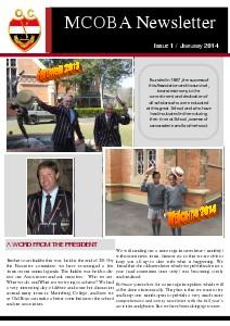 MCOBA NEWSLETTER / Issue 1 / January 2014 Volume 1