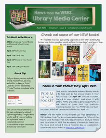 News from the WRHS Library Media Center