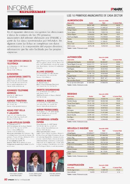 Revista IPMARK Informe Anunciantes Vol. 1 2014