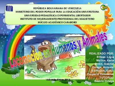 La Locomoción en Humanos y animales ENERO 2014