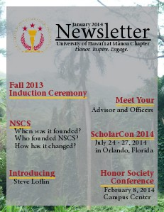 NSCS Monthly Newsletters January 2014