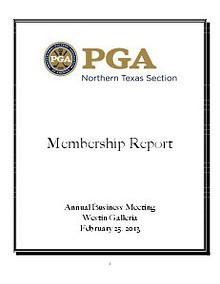 Test Membership Report