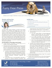 Wheat Ridge Animal Hospital's Furry Free Press