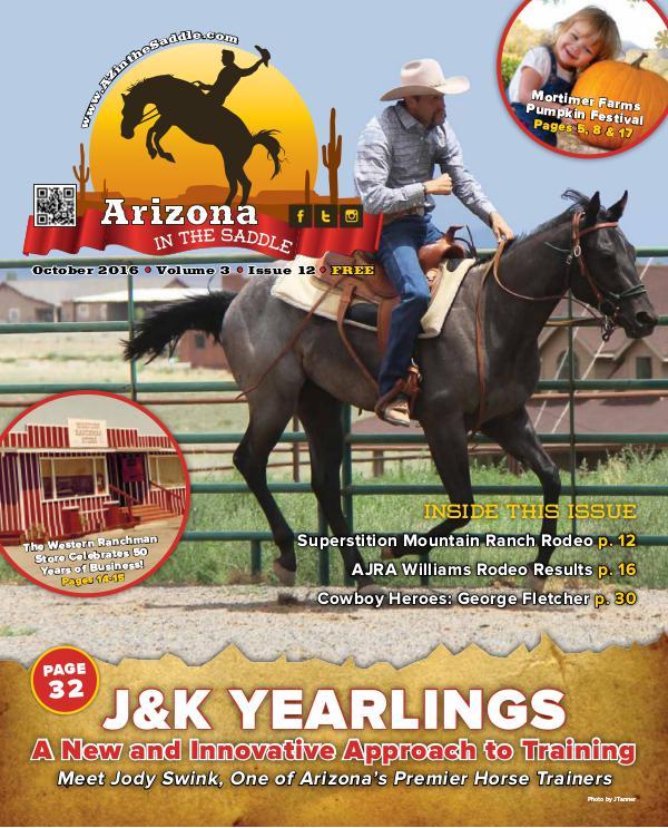 Arizona in the Saddle volume 3  October 2016 Issue