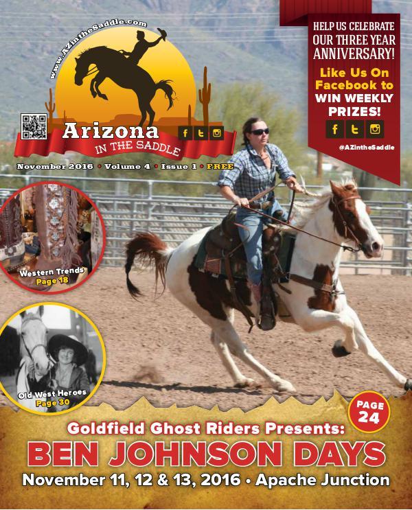 Arizona in the Saddle Vol 3 November Issue