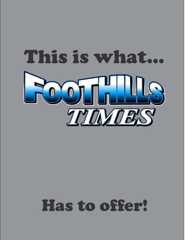 FOOTHILLS TIMES SEPTEMBER 2017 DAVID Foothills Times Demographics FLIP