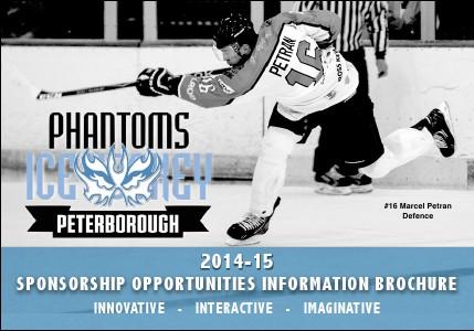 Peterborough Phantoms Sponsorship 2014-15