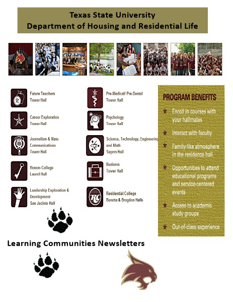 Learning Communities at Texas State University - Newsletters Volume 1, 2013-2014