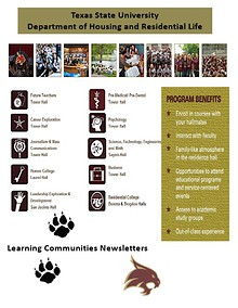 Learning Communities at Texas State University - Newsletters