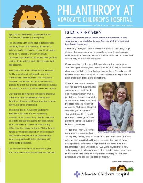 Healing Gifts Spring 2014 - Advocate Children's Hospital Insert