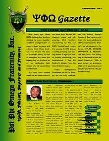 Psi Phi Omega Gazette