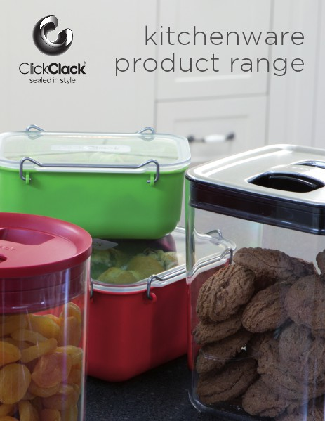 ClickClack® Kitchenware Catalogues - Large Text International Metric Version March 2014