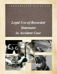 Legal Use of Recorded Statement in Accident Case Jan. 2014