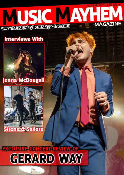 Music Mayhem Magazine November 2014: ISSUE #9 (Gerard Way Is Back)