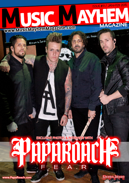 Music Mayhem Magazine JANUARY/FEBRUARY (Papa Roach Faces Their F.E.A.R.)