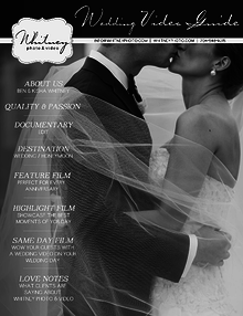 Whitney Photo & Video - Wedding Guides