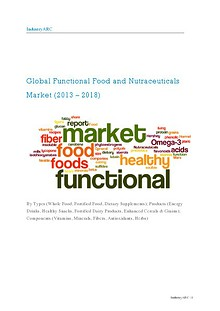 Global Functional Food and Nutraceuticals Market (2013 – 2018) – By Types (Whole Food, Fortified Food, Dietary Supplements); Products (Energy Drinks, Healthy Snacks, Fortified Dairy Products, Enhanced Cereals & Grains)