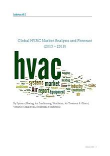 Global HVAC Market Analysis and Forecast (2013 – 2018)