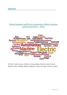Global Industrial and Factory Automation Market Analysis and Forecast (2013 – 2018)