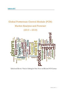 Global Powertrain Control Module (PCM) Market Analysis and Forecast (2013 – 2018)