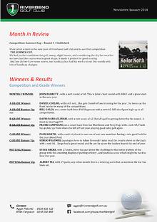 Newsletter - January 2014