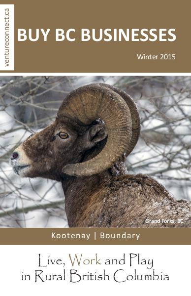 BUY BC BUSINESSES Business Buyer's Guide Kootenay Boundary Regions Winter 2015/2016