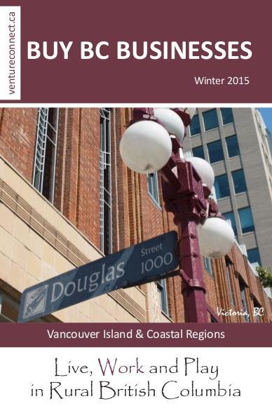 BUY BC BUSINESSES Business Buyer's Guide Vancouver Island Coastal Region Winter 2015/2016