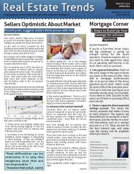 Canyon Lake Real Estate Trends Issue CL04