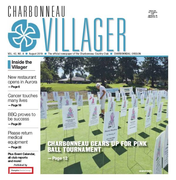 The Charbonneau Villager Newspaper 2019_Aug issue Villager newspaper