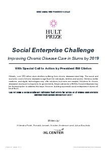 IXL Social Enterprise Case Studies Chronic Diseases October, 2013