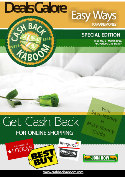 Cash Back Kaboom March 17th 2014