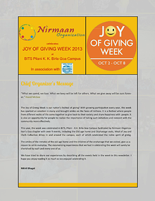 JGW newsletter - BITS Goa