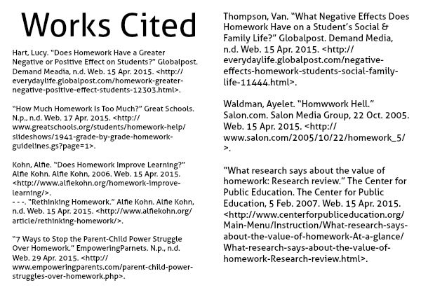homework effects on students