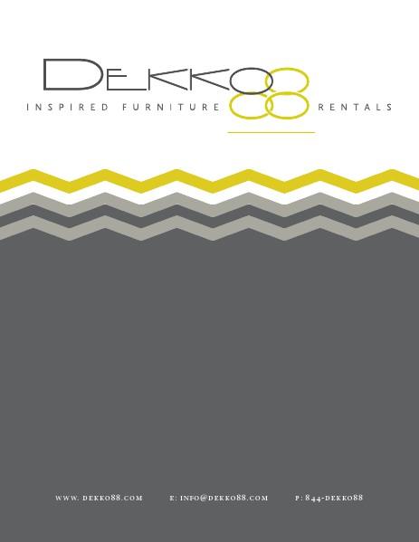 DEKKO88 Lounge Furniture Rental 2014