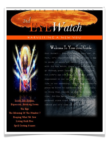 3rd Eye Watch 3rd Eye Watch October Edition