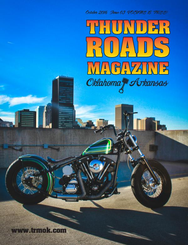 Thunder Roads Magazine of Oklahoma/Arkansas October 2016