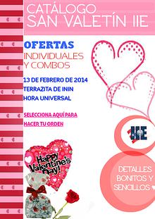 Catálogo de Artículos de San Valentín IIE
