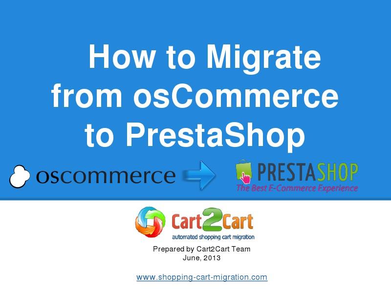 How to Change osCommerce to PrestaShop Easily