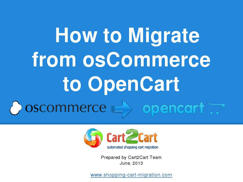 osCommerce to OpenCart Switch as Easy as Winking