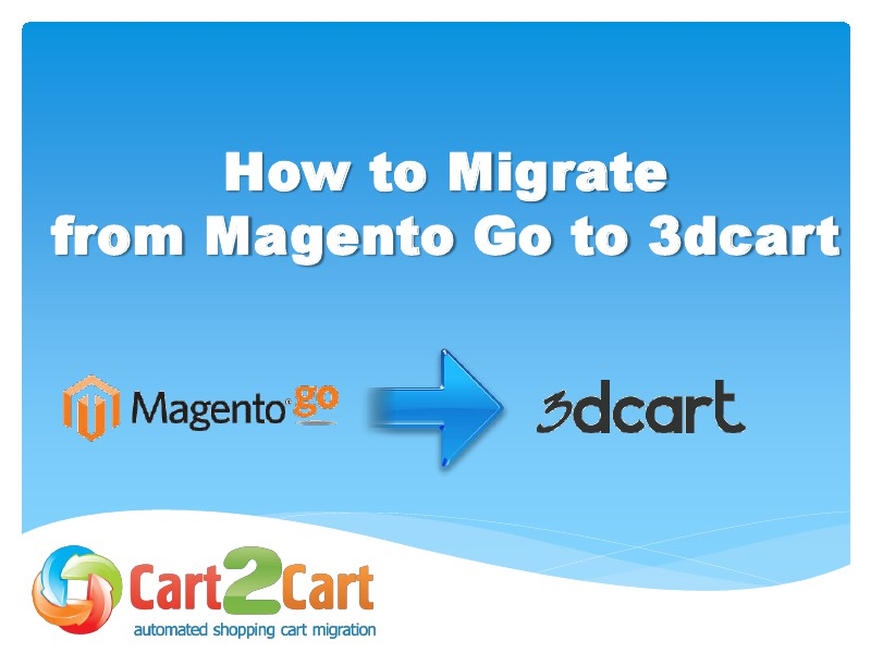Migration from Magento Go to 3dcart in a Flash