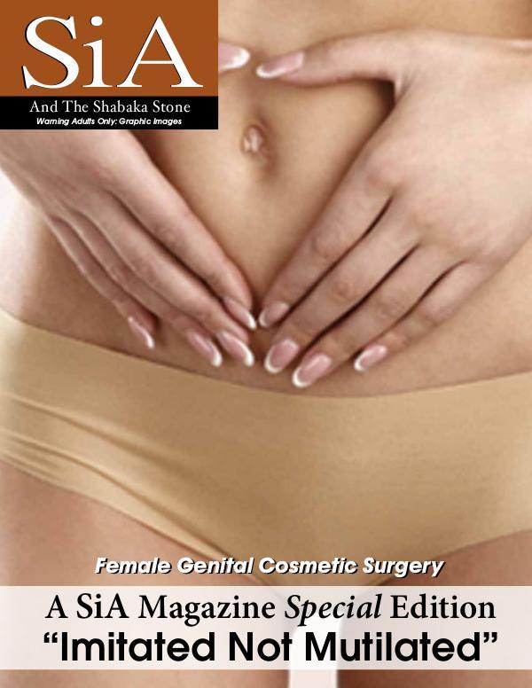 SiA Magazine - Female Genital Cosmetic Surgery Vs. Female Circumcion SiA Special Edition FINAL NEW Cvr