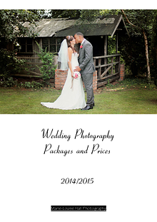 Wedding Packages and Prices 2014-15 for Marie-Louise Hall Photography