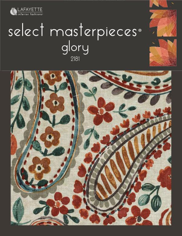 Select Masterpieces Fabric Collections by Lafayette Interior Fashions Book 2181, Glory