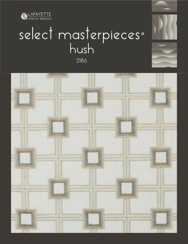 Select Masterpieces Fabric Collections by Lafayette Interior Fashions Book 2186, Hush