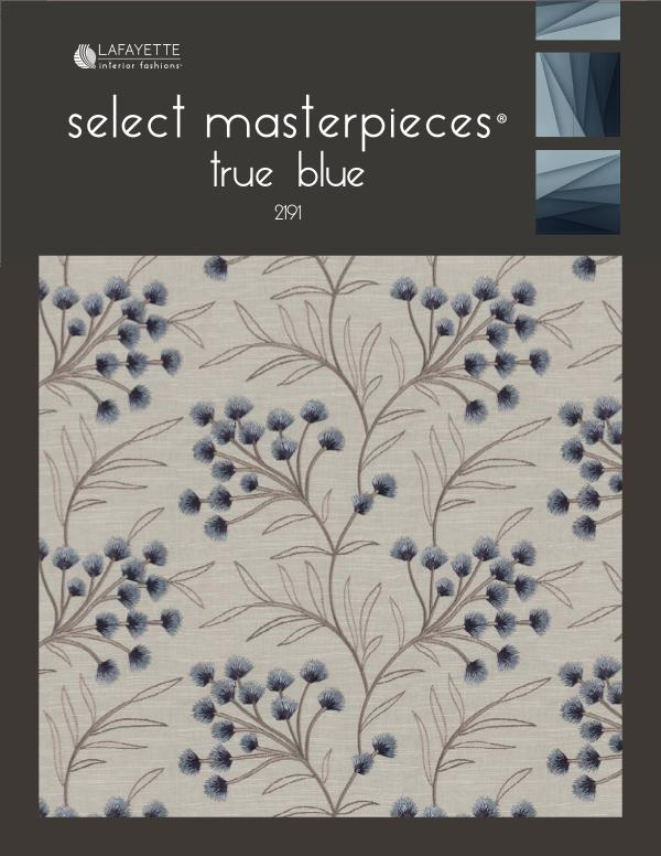 Select Masterpieces Fabric Collections by Lafayette Interior Fashions Book 2191, True Blue